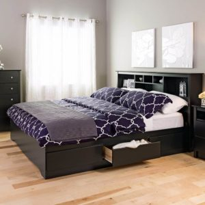 Best Platform Beds Black King Mate's Platform Storage Bed with 6 Drawers