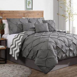 Geneva Home Fashion Ella Pinch Pleat Comforter best bedding set