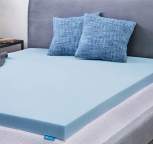 lucid gel memory foam mattress topper