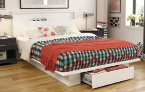 South Shore Trinity Platform Bed with Drawer
