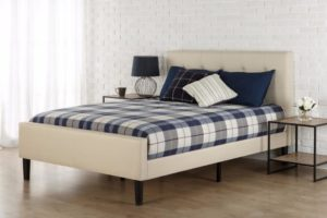 Best Platform Beds Zinus Upholstered Button Tufted Platform Bed with Footboard