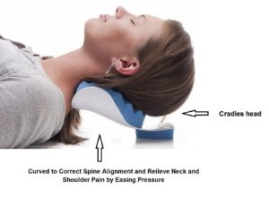 Cervical Pillow to help ease Neck Pain and Shoulder Pain