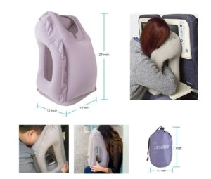 Inflatable Travel Pillow with Ergonomic Head Neck Shoulder Support Best Pillow for Shoulder Pain