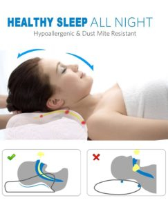 Noctura sleeping pillow latex contour