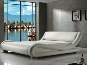 Greatime Contemporary Upholstered Bed Full
