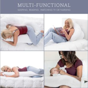 J Shape Full Body Pregnancy Pillow