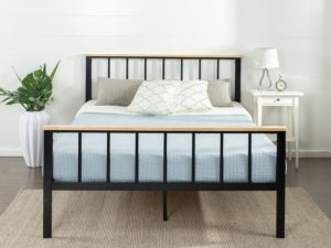Zinus Contemporary Metal & Wood Platform Bed